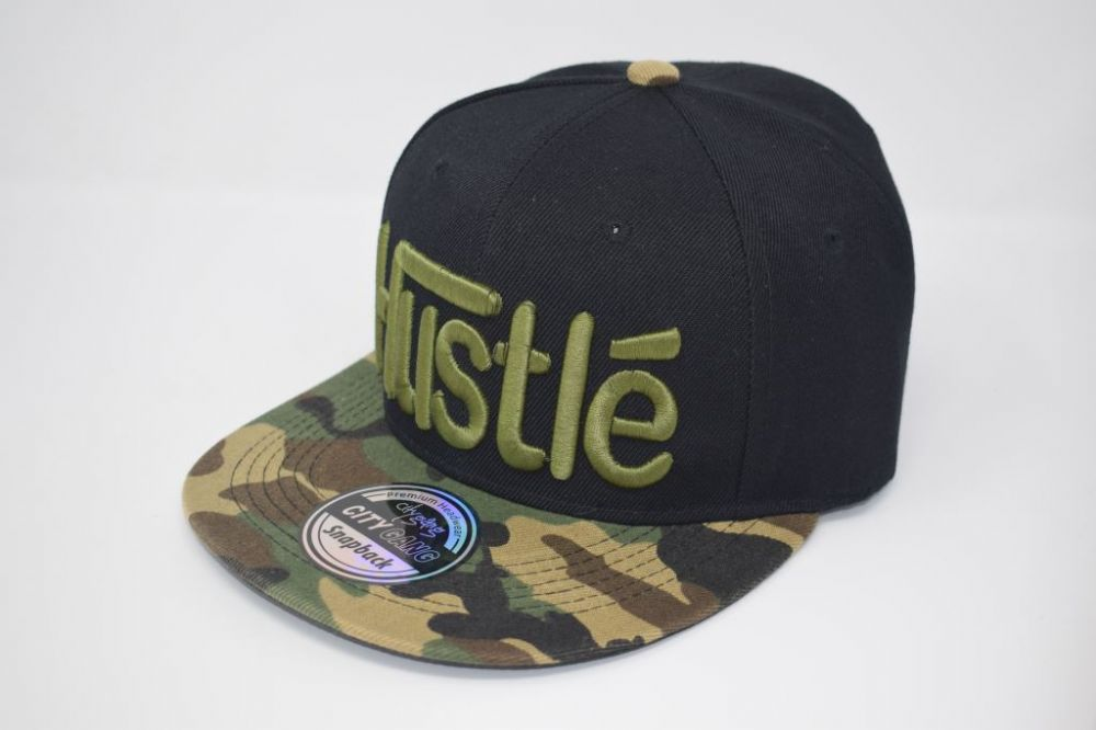 Hustle  Snap back Caps, one size fits all adjustable